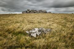 Sourton Tor // Devon // United Kingdom (harry_41) Tags: yellow grey cloudy cloud sky wind uk nikon rocky boulder stone grass longexposure dartmoornationalpark dartmoor devon rock tor sourtontor