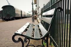HBM - Trainstation (part I) (J a n W i l l e m) Tags: bench bokeh hbm dof depthoffield monday vintage station train 35mm f24 pentax