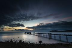 LLandudno Pier Sunrise (E_W_Photo) Tags: llandudno pier wales conwycounty sunrise sea longexposure windfarm littleorme clouds beach canon 80d sigma 1020mm leefilters