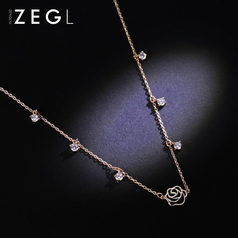 ZENGLIU Korea decorative necklace, short chain, chain style, female fashion personality pendant, neck ornament Necklace