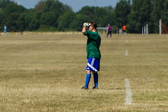 A One-sided Game. Hackney Marsh (London Less Travelled) Tags: uk unitedkingdom britain england london eastlondon hackney wick marsh marshes football soccer amateur sunday league goalkeeper