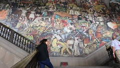 Diego Rivera's 1931 mural of the History of Mexico, showing eveloution of society through revolution and progress. (Kevin J. Norman) Tags: mexico city national palace palacio nacional diego rivera revolution