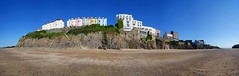 A fish eye view of Tenby (WISEBUYS21) Tags: tenby hotel hotels holiday lets homes home let panorama north wales british isles beach gravel sand pebbles golden rocky outcrop cliff cliffs rocks rock sea view blue sky destination resort breath taking spectacular photographic seaside climb stairs hard slog from top castle band stand island harbour wisebuys21 picture perfect photogenic photographers dream visit tourist tourism
