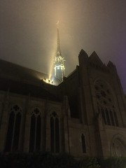 Grace Cathedral in the fog (JoeGarity) Tags: nobhill foggy night fog episcopal cathedral church gracecathedral sanfrancisco