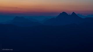 Préalpes gruyériennes à l'aube (Switzerland)