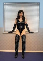 Miss Joanne (Joanne (Hay Llamas!)) Tags: transgender shemale genderfluid genderqueer tg brunette tgirl gurl cute uk brit british britgirl joanne hayllamas pvc latex rubber patent kinky thighboots