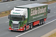 PO18 NRK (panmanstan) Tags: stobart scania ng r450 wagon truck lorry commercial freight transport haulage vehicle a1m fairburn yorkshire