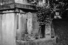 Minami Dai-ji Stone Marker- What do you see? (Rekishi no Tabi) Tags: tokyo minatoku buddhist temple monochrome blackandwhite kwaidan kaidan yureizaka japan spooky