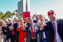Ato inter-religioso reúne Nobel da Paz em apoio a Lula e solidariedade a grevistas. Foto: Magno Romero           Data:14/agosto/2018 (PTnaCâmara) Tags: ato inter religioso nobel da paz lula solidariedade stf greve de fome