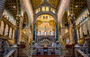 2018 - Hungary - Pécs - Cathedral - Nave (Ted's photos - For Me & You) Tags: 2018 cropped hungary nikon nikond750 nikonfx pécs tedmcgrath tedsphotos vignetting pécscathedralnave pécscathedral church churchinterior nave arches