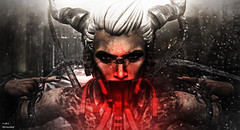 Silence..and Look at These (_Adra Braeden_ *Client List CLOSED*) Tags: cerberusxing eyes eve aybunkercybershop beast claws darkness demon horns demonic sinister rings bento secondlife artist photoshop