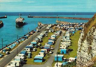 Postcard Dieppe (76 Seine-Maritime) Ferry-Boat pénétrant dans le chenal du Pallet devant le quai de la Marne et le camping Ed Estel 63 Rue de la Mare Blois