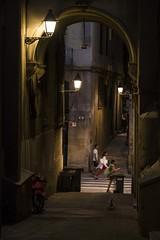 down a small street (charlesgyoung) Tags: barcelona spain charlesyoung nikon nikonphotography nikondx travelphotography streetphotography