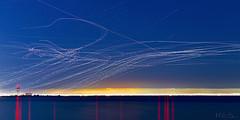 Took Off All Night [2] (milton sun) Tags: lighttrails sanfranciscointernationalairport bayfrontpark burlingame sanfrancisco longexposure dusk seascape bay ngc bayarea wave ocean shore seaside coast california landscape outdoor clouds sky water evening traillights