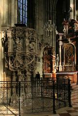 Two Lovers in St. Stephen's Cathedral in Vienna (Wolfgang Bazer) Tags: stephansdom st stephens cathedral vienna wien stone pulpit gothic gotisch spätgotisch niclaes gerhaert van leyden anton pilgram kanzel niclas österreich austria