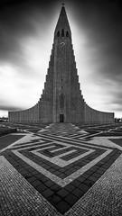 Church (Des Daly) Tags: church iceland reykjavík hallgrímskirkja mono paving wideangle