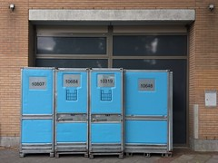 Loading... (joostmarkerink) Tags: load store blue boxes