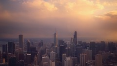 Chicago sunset (Jim Nix / Nomadic Pursuits) Tags: iphone iphone7plus luminar2018 jimnix nomadicpursuits travel chicago illinois skyline sunset golden hour cityscape skyscrapers