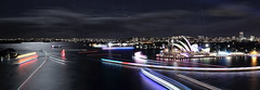 Vivid Sydney 2018 -  Light, Music & Ideas Festival (7) (geemuses) Tags: sydney vividsydney2018 light music ideasfestival sydneyoperahouse colour timelapsephotography sydneyharbourbridge sydneyharbour water extendedexposure projections nightphotography sky contrast