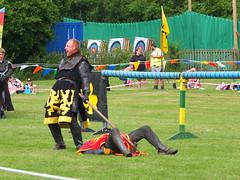 DSCF3813 (SierPinskiA) Tags: ruffordabbeycountrypark rufford knightsofnottingham fujixs1 jousting medieval horse knights goldeneagle falcon