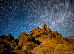 Star Trails Over The Alabama Hills (Mimi Ditchie) Tags: night stars startrails easternsierra hills moonlight startrail nightsky easternsierranevada circular circularstartrails astrophotography longexposure stackedexposures alabamahills stackedimages getty gettyimages mimiditchie mimiditchiephotography