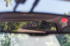 Rear Window (nrvtrains) Tags: 236 christiansburgdistrict bridge mirror elliston intermodal unionpacific norfolksouthern blountdr virginia unitedstates us
