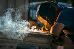 Melting (Lisa Ouellette) Tags: sjgh heat sparks iron steel menatwork hot welding