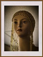 art deco lady 2 (Mallybee) Tags: headdress beads vivitar 3570mm f2838 oldlens mallybee art deco lady head women antique dcg9 g9 lumix panasonic