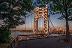 George Washington Bridge (lesly_valdez) Tags: cityscape citylights fort lee bridge sunset landscapephotography new jersey pastel colors nj