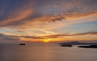 *Santorini sunset*