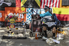 Find The Dog (Fermat 48) Tags: manchester piccadillyrats tambourine dog irnbru drum flags rats gazstanley pushchair canon eos 7dmarkii cymbals