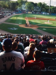 Family Night (Ellery Images) Tags: elleryimages summer fans spectators field son father family recreation sport baseball