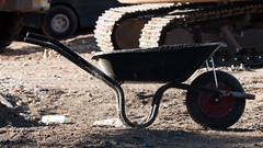 Wheelbarrow (Andy Sut) Tags: nottingham uk england citycentre urban wheelbarrow buildingsite