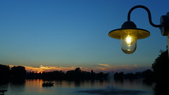 Sunset (Eddy Allart) Tags: sunset atardecer lamp dusk zonsondergang hillegersberg rotterdam nederland holland holanda evening avond lake water