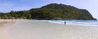 Samantha on the beautiful and quiet Patok beach
