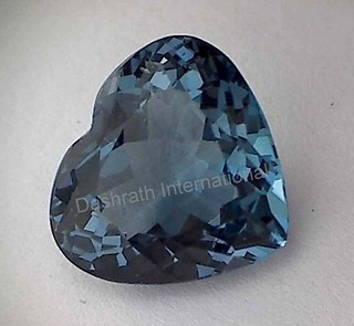 natural london blue topaz heart faceted loose gemstone