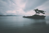 The barge (Balthus Van Tassel) Tags: costarica beach longexposure barge boat sunken sand stormy clouds ndfilter