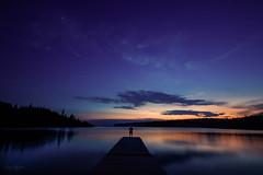 my love (hey ~ it's me lea) Tags: night sunset dock lake stars clearlake ridingmountainnationalpark thatsglenoutthereonthedock myguy