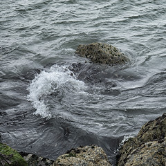 confluence off the South Wall (Wendy:) Tags: sea wave rocks swell liffey
