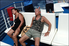 (The Sleepy Journey to Capri) (Robbie McIntosh) Tags: leicam9p leica m9p rangefinder streetphotography 35mm leicam autaut candid strangers seaside tan naked sand man women girls beach onthebeach bathers umbrella bikini speedo shadow capri leicasummilux35mmf14i summilux summilux35mmf14i passengers ship ferryboat sleep
