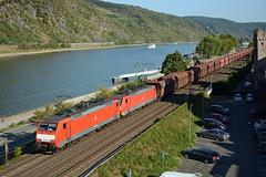 189049-0 + 189037-5 + empty iron ore train to Rotterdam, Oberwesel, 18th August 2018 (cfl1969) Tags: oberwesel steingassenturm br189 918061890490 918061890375 1890490 es64f4 dbcargo 1890375 siemens