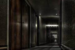 Dark Corridor (Jan Fenkhuber Photography) Tags: hdr hotel indoors brussels belgium creepy