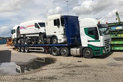 Waiting to ship (South Strand Trucking) Tags: van lorry boat harwich dock export