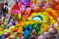Helsinki Pride 2018 (06) Balloons (pni) Tags: multiexposure multipleexposure tripleexposure human person people being color colour balloon hand pride parade helsinki helsingfors finland suomi pekkanikrus skrubu pni