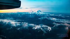 Sunrise Strikes Mount Rainier As A Q400 Rises (AvgeekJoe) Tags: iflyalaska aerialphotograph alaskaair alaskaairlines bombardierdhc8402q bombardierdash8400 bombardierdash8q402 bombardierq400 d5300 dhc8402q dslr dash8 dehavillandcanadadhc8402qdash8 horizonair n446qx nikon nikond5300 propliners q400 aerial aerialphoto aerialphotography aircraft airplane aviation plane propliner turboprop