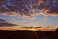 Sunset (kkaarlyy) Tags: sunset sonnenuntergang sonne cloud clouds cloudy cloudporn sommer summer dresden sachsen saxony germany deutschland sky skyporn himmel hintergrund wolken wolke wolkig blue blau orange sonnenstrahl sun photography lieblingsausblick favorite view canon 600d flickr home homesweethome heimat zuhause abend evening night day ende