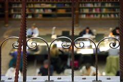 shush (1crzqbn) Tags: rijksmuseumresearchlibrary bokeh railing sliderssunday dof light metal depthoffield