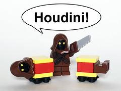 Houdini! (Oky - Space Ranger) Tags: lego star wars funny jawa houdini utini magic trick box illusion magician