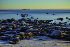 Frozen coast v2... (- photozol -) Tags: västernorrland sweden sony nex7 winter coast baltic sea rock scandinavia landscape water icy art sunrise mirrorless apsc europe e mount sel50f18 nature sundsvall bredsand