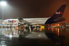 N779FD FedEx Express 757-222 at KCLE (GeorgeM757) Tags: n779fd n540ua fedexexpress 757222 nightairplane rain ramp aircraft alltypesoftransport aviation airport boeing georgem757 kcle clevelandhopkins cargo airfreight weather
